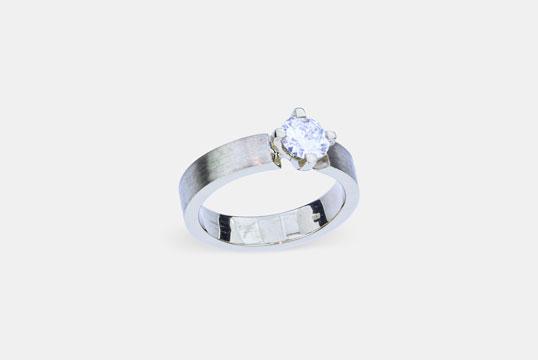 Brillant Ring einkarat GelbGold