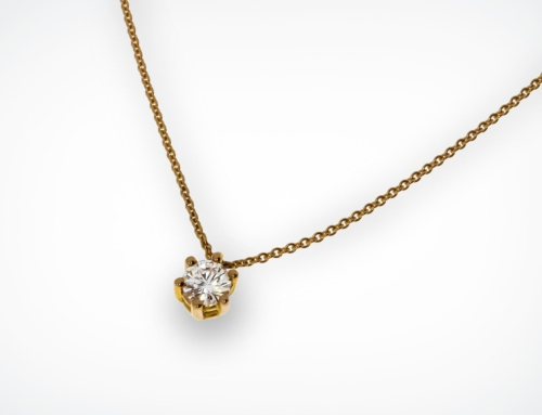 Brillantcollier 0,38 ct.