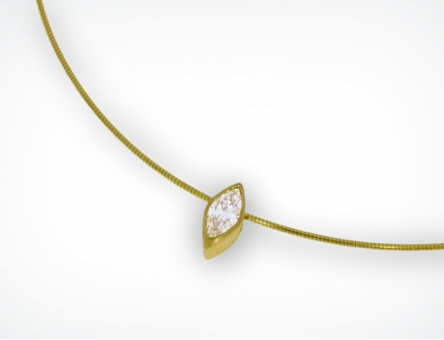 Collitaire Navette 1,03 ct.